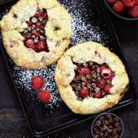 Individual Chocolate Raspberry Galettes Recipe for Two