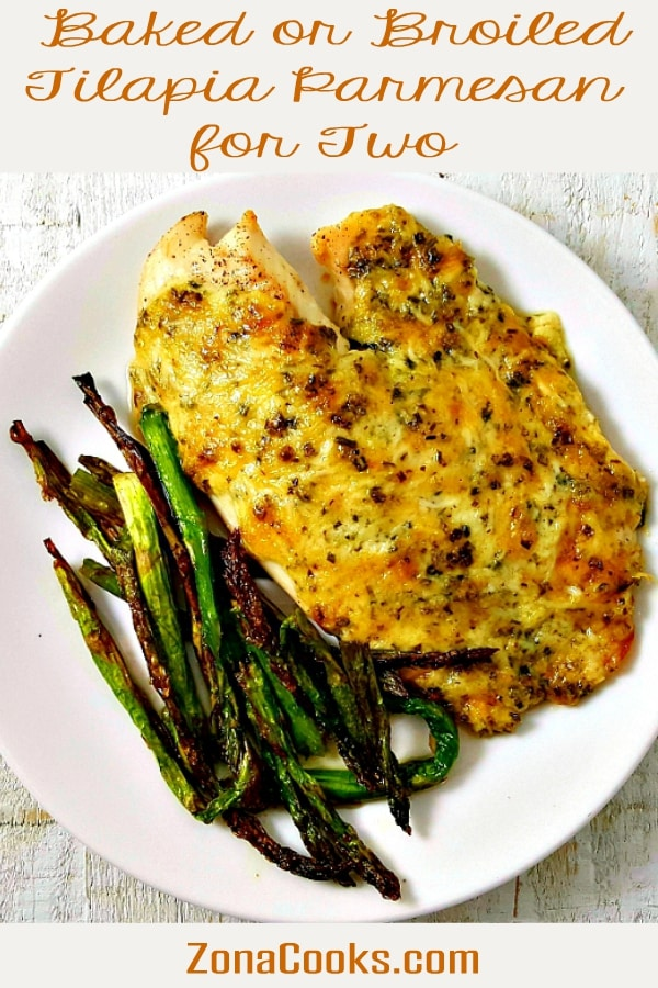 Broiled or Baked Tilapia Parmesan Recipe for Two