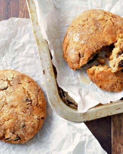 Glazed Cinnamon Raisin Biscuits