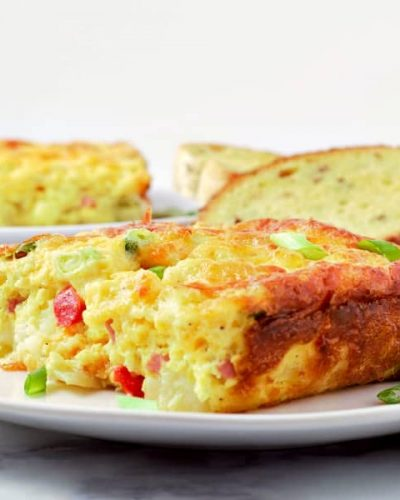 Ham and Cheese Hash Brown Quiche