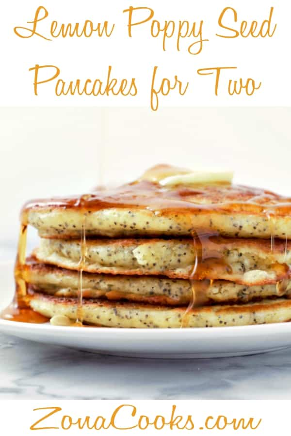 Lemon Poppy Seed Pancakes Recipe for Two