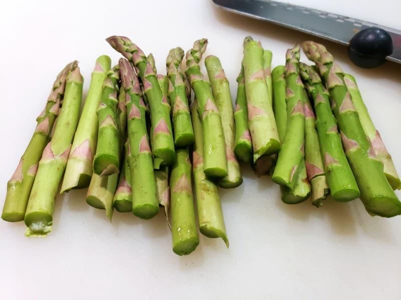 asparagus cut into 3 inch lengths
