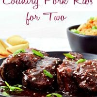 Slow Cooker Asian Country Pork Ribs Recipe for Two