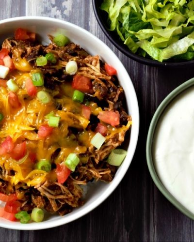 Slow Cooker Chicken Taco Bowls