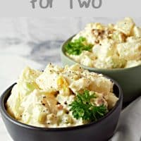 two bowls of potato salad for two