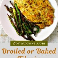 broiled or baked tilapia parmesan