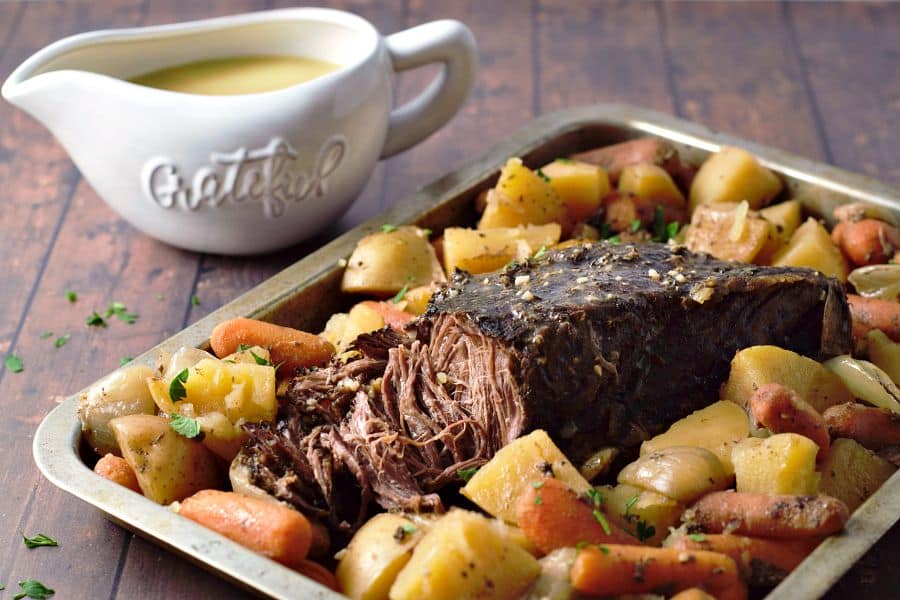 Pot Roast Dinner Recipe and Gravy