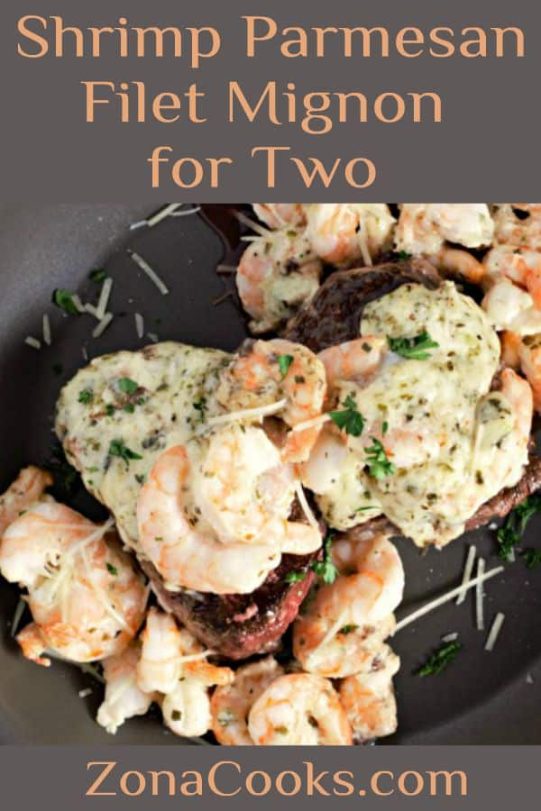 Shrimp Parmesan Filet Mignon Recipe for Two