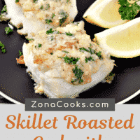 Skillet Roasted Cod with Garlic Butter