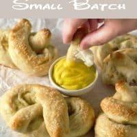 Homemade Soft Pretzels Small Batch
