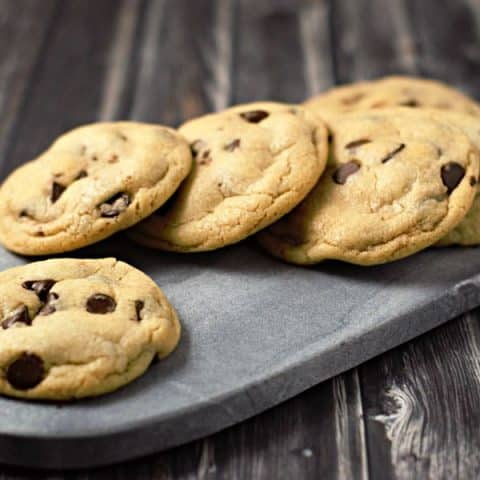6 Best Soft Batch Cookies for Two Small Batch Recipe on a cutting board