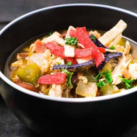 Best Chicken Fajita Soup recipe for two