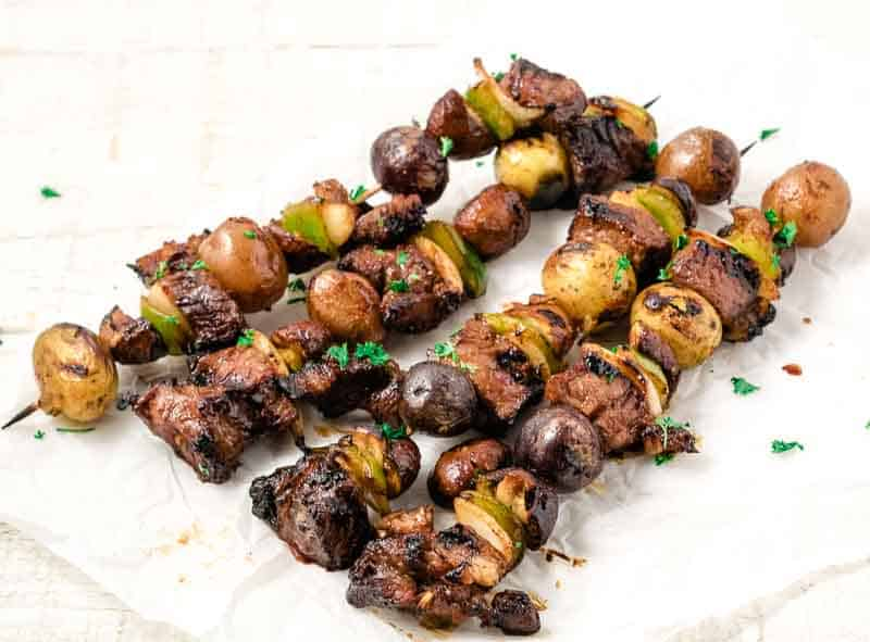 4 easy grilled steak kebobs