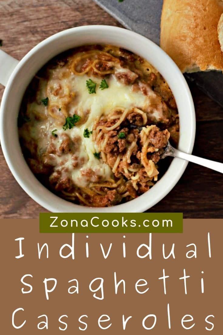 Individual Spaghetti Casseroles
