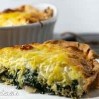Cheesy Spinach Artichoke Quiche