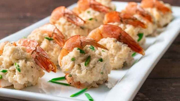 Crab Stuffed Shrimp For Two 15 Minutes Zona Cooks