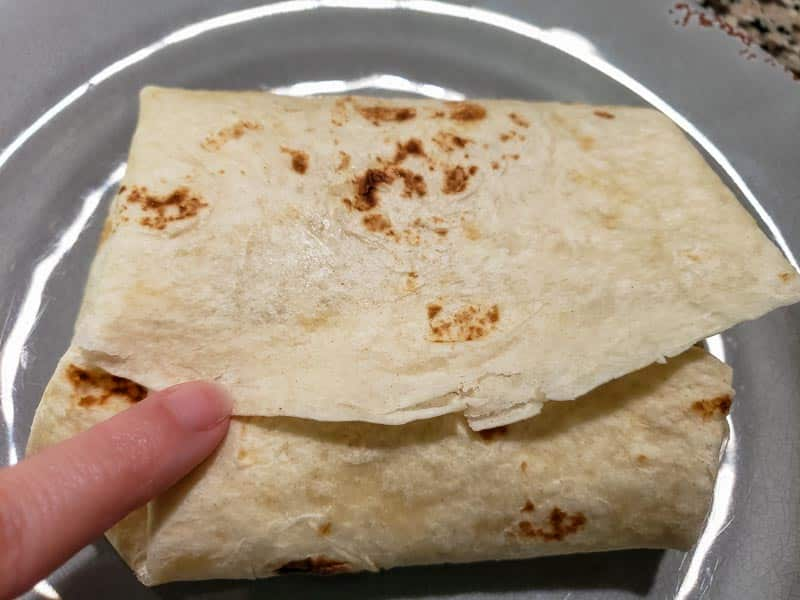 a burrito folded like an envelope