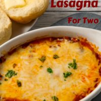 Grilled Chicken and Spinach Lasagna Dinner for Two