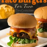 Grilled Taco Burgers Dinner for Two