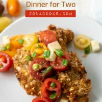 Almond Crusted Chicken with Italian Tomato Salad Dinner for Two