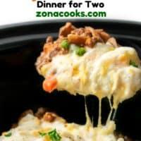 Crockpot Shepherd's Pie Dinner for Two