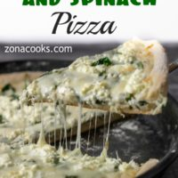 Goat Cheese and Spinach Pizza