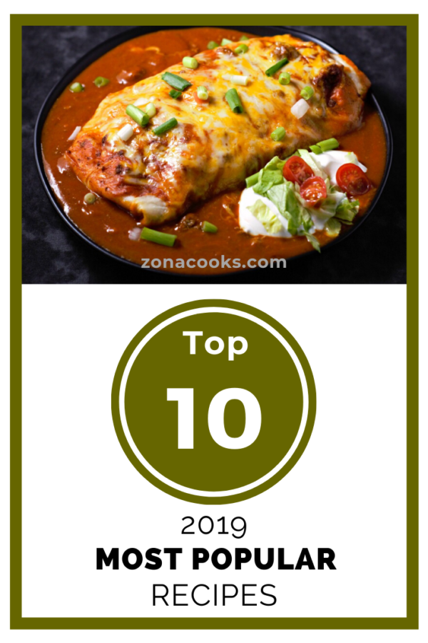 Top 10 most popular recipes of 2019 - Zona Cooks - Recipes for Two