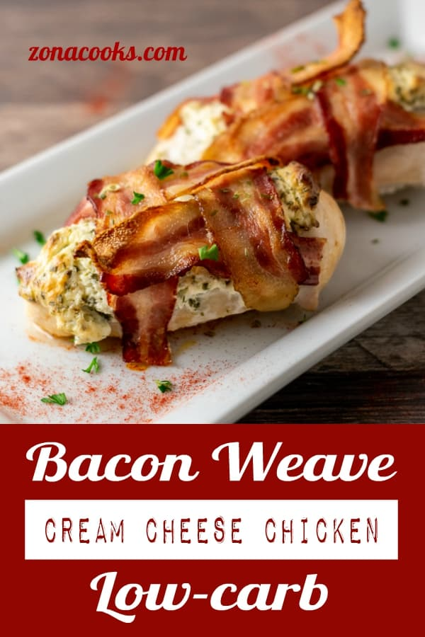 Bacon Weave Cream Cheese Chicken Low-carb