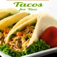 Crockpot Chicken Tacos Dinner for Two