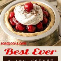 Best ever black forest pie on a tray