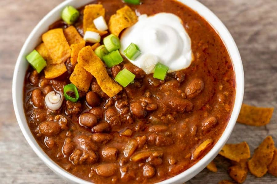 Easy Chili Stove Top Or Crock Pot For Two 15 Min Zona Cooks