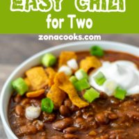 crockpot or stovetop easy chili for two