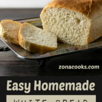 Easy Homemade White Bread 1 loaf