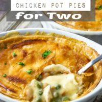 Individual Chicken Pot Pies Dinner for Two