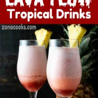 Hawaiian Lava Flow Tropical Drinks for Two