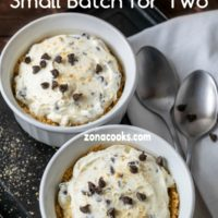 No Bake Chocolate Chip Cheesecake Dessert for Two