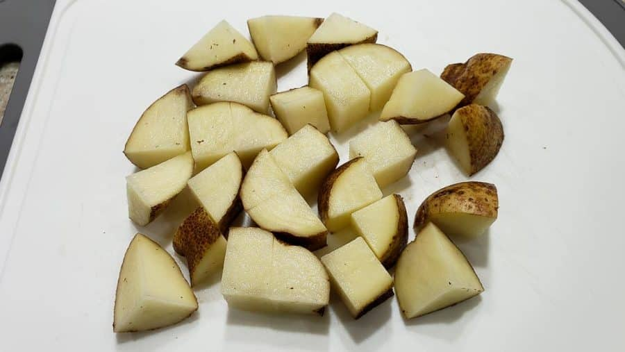 one large potato diced into cubes