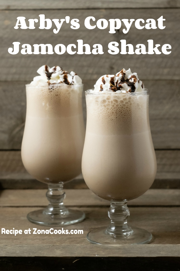 graphic of two Arby's Copycat Jamocha Shakes