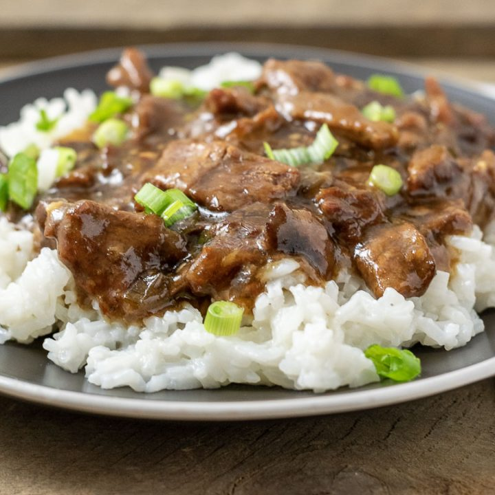 Crockpot Mongolian Beef for Two