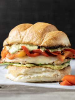 a Tuscan Grilled Chicken Sandwich up close front view