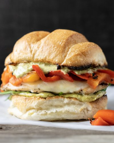 Tuscan Grilled Chicken Sandwiches with Pesto Mayo