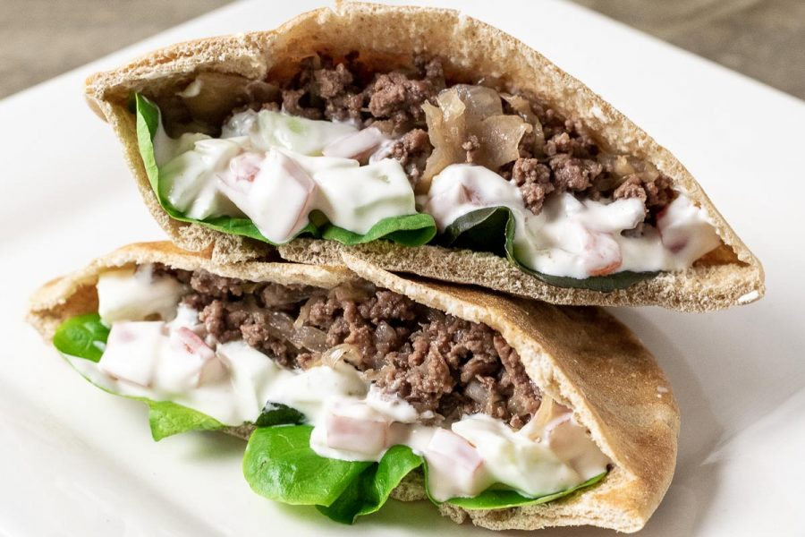 Easy Gyro Style Pita Bread Sandwiches For Two 20 Min Zona Cooks
