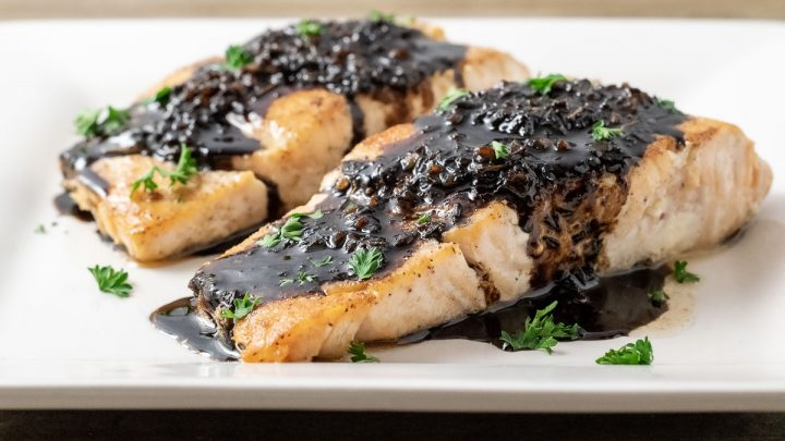 Balsamic Glazed Salmon For Two 25 Min Zona Cooks